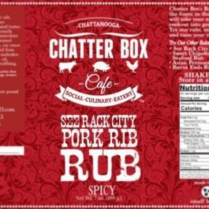 Chatter Box Cafe See Rack City Pork Rib Rub Spicy